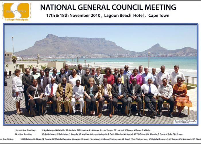 National General Council Meeting, Lagoon Beach Hotel, Cape Town, South Africa.