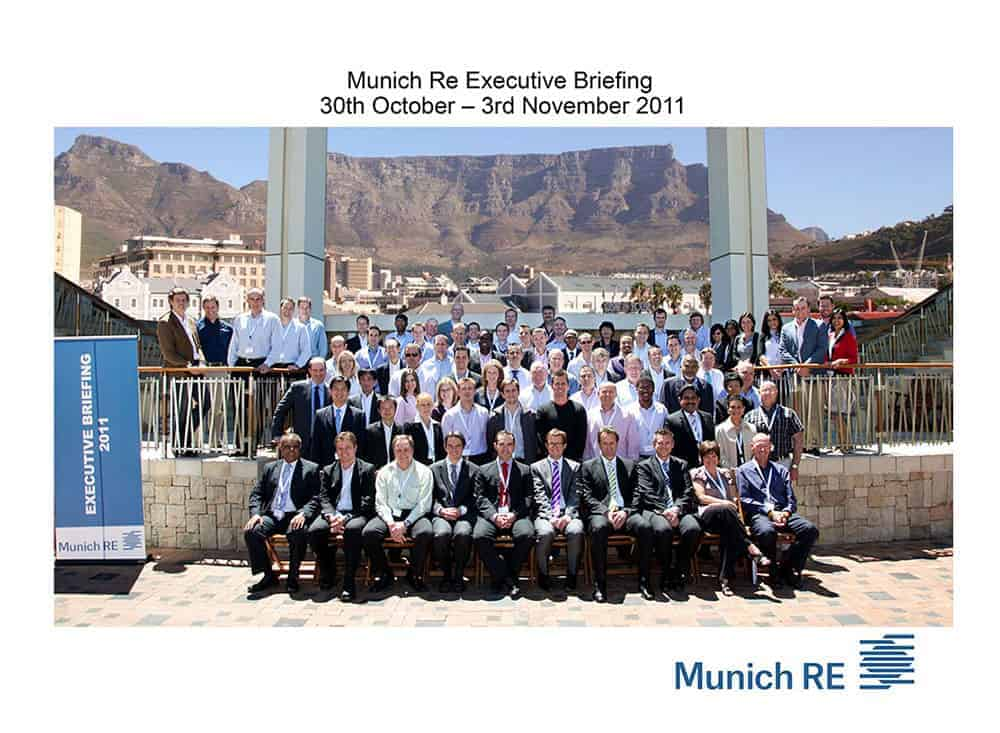 Munich Re Conference Group One & Only Hotel, Cape Town, South Africa.
